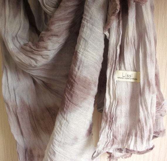 JANUARY SALE SAVE 25% Summer Storm - Long Extra Wide Cotton Ombre Scarf - Hand Dyed Purple Mix -  Womens Organic Accessory - Gift Wrapped