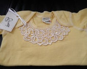 Infant Girl size 18 month Lace Embroidered T-shirt MADE IN THE U.S.A.
