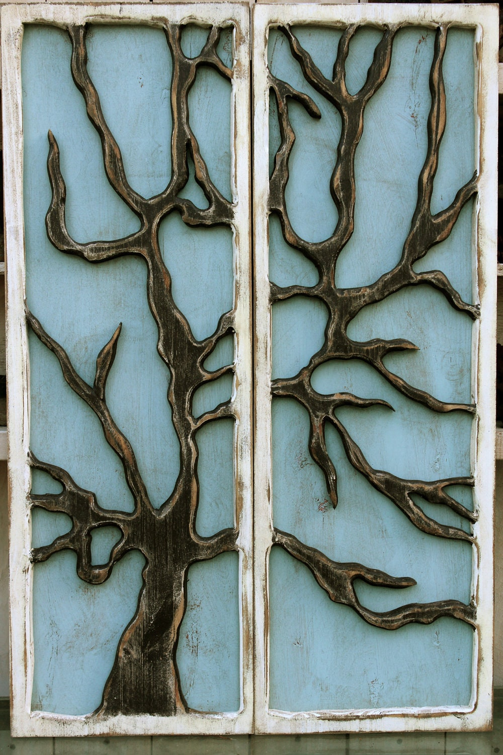 Rustic Tree Wall Decor : Rustic home decor unique gift idea tree wall art