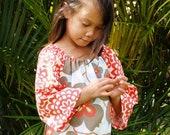Girls Handmade A-Line Dress Boutique Morning Glory Wall Flower Tunic Dress 6mos to 12