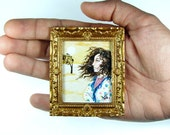 Small Miniature Original Acrylic Painting -Desert Thoughts- NOT A PRINT