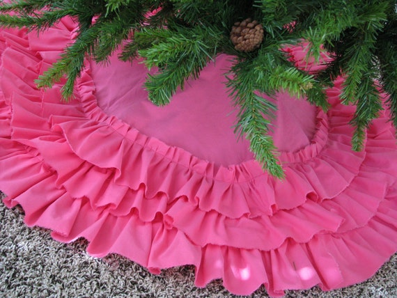 items similar to hot pink tree skirt on etsy. Black Bedroom Furniture Sets. Home Design Ideas