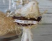 tattered little bird nest
