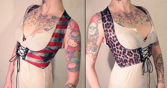 Kissin' Bombs striped leo vest