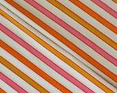 vintage pillowcase pair standard size (cannon royal family pink orange gold stripe)