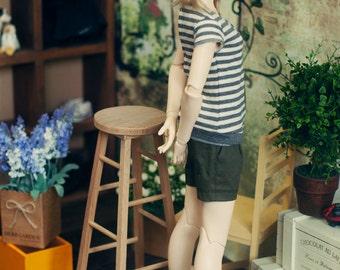 SD13 GIRL Wrinkle Short Pants Beige & Khaki