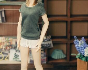 SD13 girl Sweat short pants White