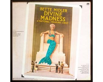Glittered Vintage Bette Midler Divine Madness Cover (back(