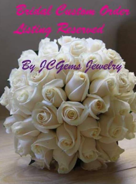 Bridal Order Listing Reserved for Krystle with Registered Mail