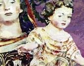 The Child, Madonna and Child,  mother,impressionist, vibrant, colorful, rainbow, confetti, purple, italy, portugal, mexico, rome, nativity