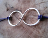 Infinity Bracelet - Waxed Linen Thread with Extender