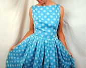 1950s Jonathan Logan Polka Dot Dress