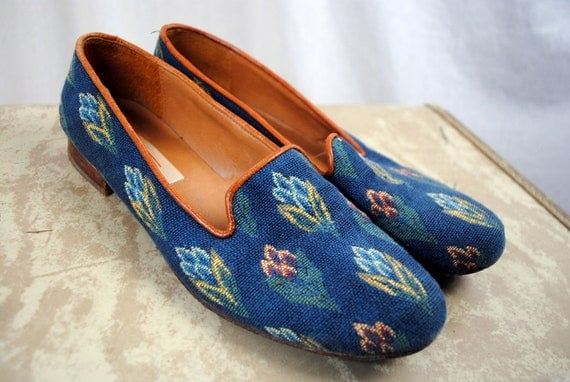 Vintage Talbots Floral Tapestry Flats - Size 8