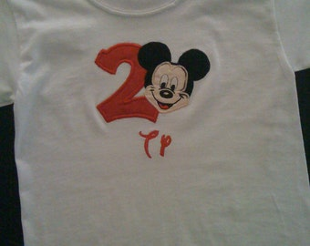 Custom Boutique Monogrammed Personalized Mickey T Shirt 12M-5T