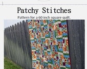 PDF Pattern for Patchy Stitches Full Size Quilt