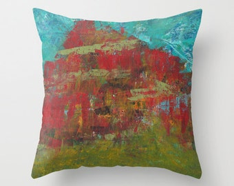 Red Mountain Pillow Cover 16x16, 18x18 or 20x20