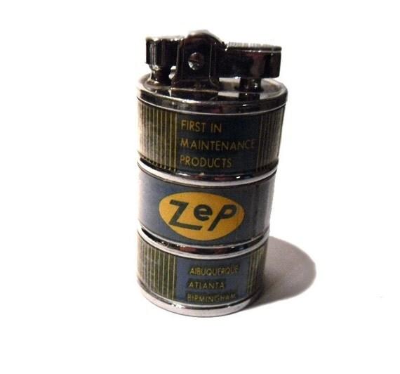Cool Vintage ZEP Lighter. Japan. 1950s. Advertising. Oil Drum Novelty.