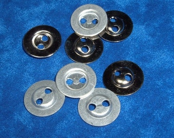 50 Buttons Metal 2 Hole  Destash
