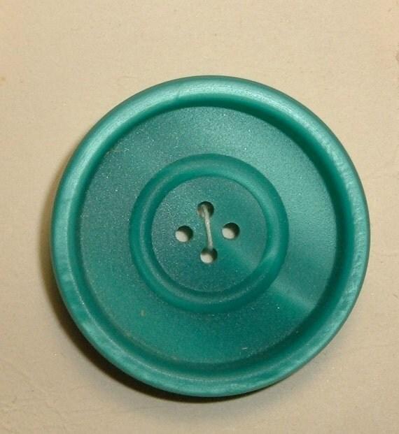 Vintage Button La Mode Turquoise