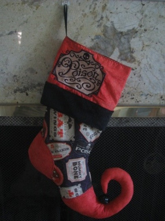 Apothecary Poison Halloween Christmas Stocking