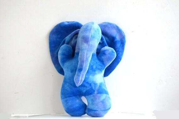 Stuffed Elephant Plushie - Organic Bamboo Velour