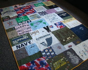 Custom T-shirt Memory Quilt - Twin - No Money Down