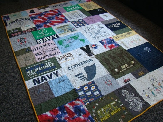 Custom Tshirt Memory Quilt - Twin - No Money Down