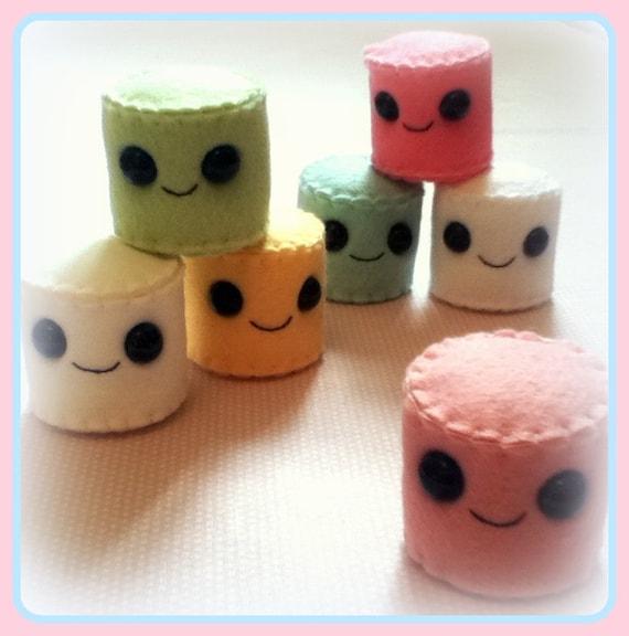 Felt Food Toys R Us : Items similar to felt marshmallows ornaments toys on stick