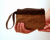 CLEARANCE SALE Camel pouch with brown details 20% OFF