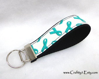 Special Item - Teal - Cancer Awareness Key Fob (Chain)