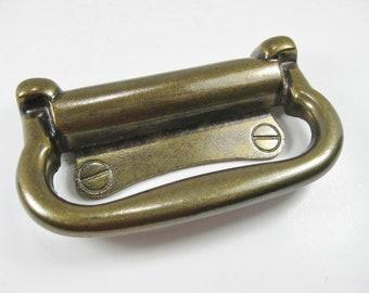 Vintage Brass Drawer Pull Drawer Handle Vintage Brass Cabinet Hardware Set of 4