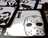 Halloween Horror Wedding Table Number Gothic Fun black and white Dracula Spooky Movie Icons