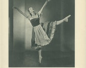 1950 Sally Gilmour as Giselle, Marie Rambert, 1948, Vintage Black White Print (39) from Photograph by Baron (Sterling Henry Nahum)