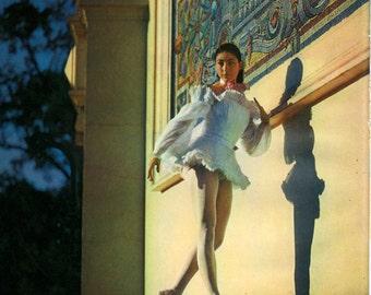1950 Margot Fonteyn Vintage impression Marigny Théâtre Paris Agathe Les Demoiselle de la Nuit Frontis