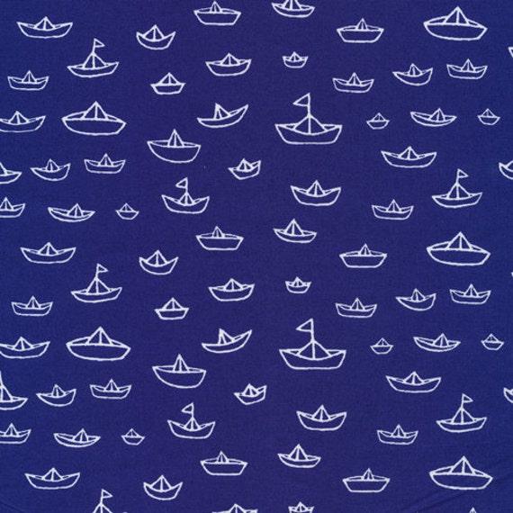 The Fleet Navy from Seven Seas - Cloud9 Organic fabrics  - Fat Quarter