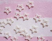 50 pcs. of Tiny Pearlized Star Ring Charms / Cabochons