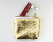 Coin Purse // Gold // Metallic // Zip Pouch