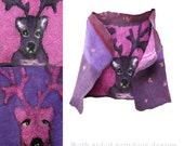 Purple pink felted merino wool vest, convertible woman vest, boho chic clothing, reindeer fiber art, winter fashion, christmas , Size S