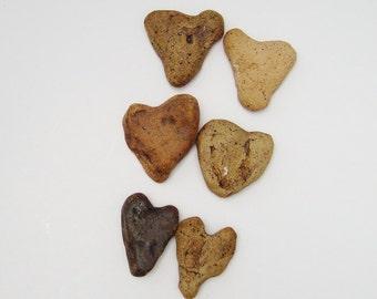 Clay heart ,  Heart Shaped Faux Stone, stoneware