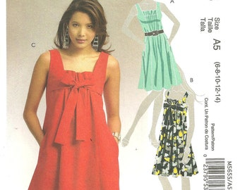 McCalls Pattern 5655 Miss Dress sz 6 8 10 12 14 2008 FF