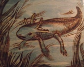 Original Woodburning--Welly the Axolotl