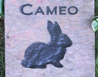 Personalized Bunny Rabbit Memorial Stone Gravestone