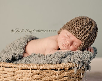 Baby boy hat, baby girl hat, Crochet Newborn Photo Prop, Crochet Newborn Ear Flap Hat, Crochet Hat, Holidays, infant hat, baby hat