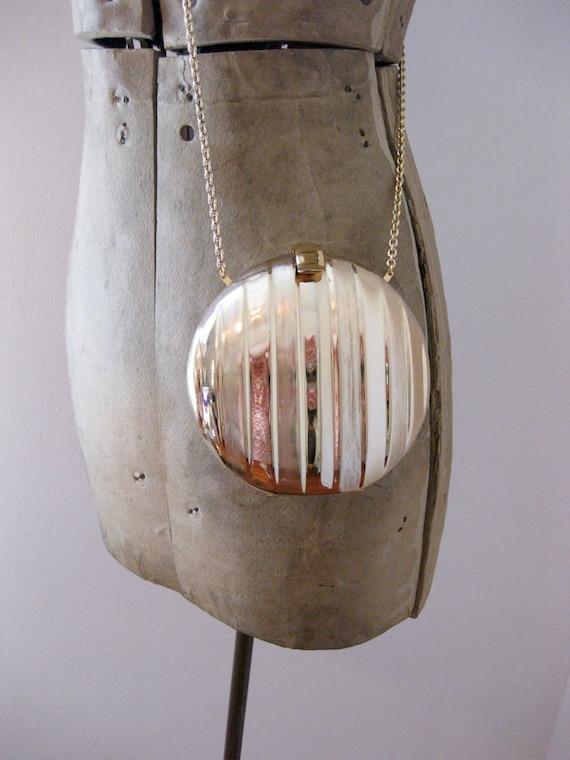 vintage gold Rodo evening bag