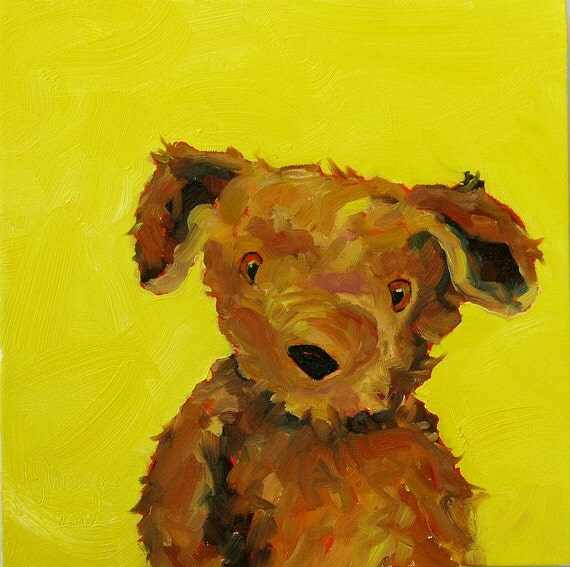 RESERVED for JK in IA   You Looking At Me, an original 12 x 12 x 1.5 oil painting on canvas by Yvonne Wagner. Teddy Bear. Bear painting.