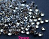 AAAAA 2mm Round Cubic Zirconia Loose Stone CZ Diamond Brilliant Cut - Diamond Clear - 36pcs