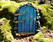 Blue Fairy Door with glitter