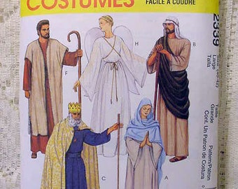Easy Sew Costume Pattern McCalls 2339 Halloween or Christmas Play, Angel, Mary, Joeseph, King, Shepherd and more