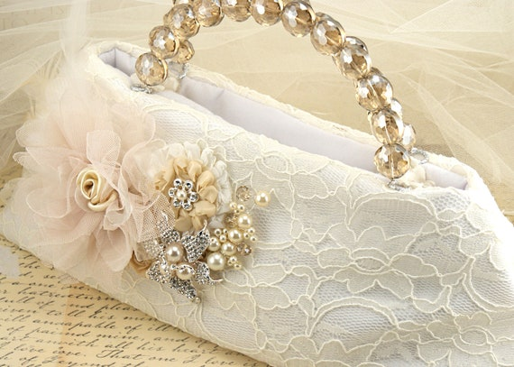 CUSTOM ORDER for Lesley- Bridal Clutch and comb
