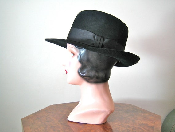 SALE 1930s style Fedora Hat /Men's / Bates Hatters - their Indiana Jones hat